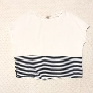 Ann Taylor Loft medium white stripe blouse